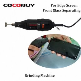 cracking machine NZ - Novecel Mini Manual Grinding Machine for Creating Cracks Separating Glass LCD Screen Rotary Grinder Shorten Freezing Cool Time CX26#