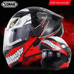 motorcycle helmets camera NZ - Italy SOMAN double lens X5 cover full helmet long distance electric vehicle Camera motorcycle motorcycle helmet