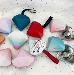 Wholesale False Eyelashes Packaging Box ins diamond false eyelashes Lashes Packing Case not including lashes 9 styles LJJK2385