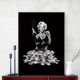 modern beauty canvas print NZ - Modern Wall Art Pictures Canvas Painting Marilyn Monroe Poster Prints European Sexy Beauty Living Room Bedroom Home Wall Decoration