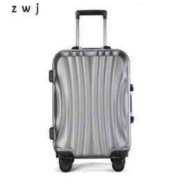 "spinner carry luggage UK - PC Business Travel Rolling Luggage Aluminum Frame Alloy Spinner Wheels Airplane Suitcase Carry On Trolley Luggage 20"" 24"" Inch CX200718"