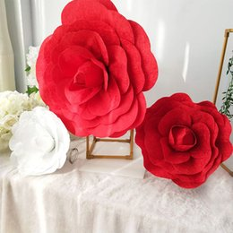 flowers studios background Australia - artificial Super Velvet Peony Fake Flower Studio Shooting Romantic Theme Wedding Show Background simulation decorative flower