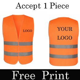 Wholesale work uniforms vest for sale - Group buy 1Pcs Free Custom LOGO Reflective Safety Vest High visibility Construction work uniforms logo printing Company team uniform