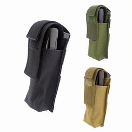 wholesale tactical pouches UK - Tactical Portable Durable EMT Scissor Pouch Bag Small Knife Holding Bag Camping Hiking Torch Pack mRud#