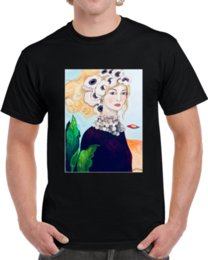 women la shirt UK - Men T-Shirt La Dama T Shirt Tshirt Women T Shirt