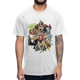 pirate tee NZ - Straw Hat Crew Pirates One Piece T Shirt Male Retro Stylish Homme Tee Shirt Pure Cotton BONADIAO T-Shirt
