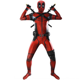 stage tights Canada - C9phM Children marvel Red stalemate costume Jumpsuit clothing body pants clothing Deadpool tight jumpsuit full set cosplay stage performance