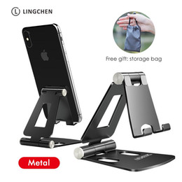 foldable phone holder stand NZ - Phone Holder Stand for iPhone 11 Xiaomi mi 9 Metal Phone Holder Foldable Mobile Phone Stand Desk For iPhone 7 8 X XS With retail packaging