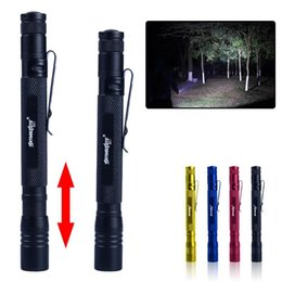 pen led torch NZ - Portable Zoomable Tactical Pen Shape Light Tactical Torch Pocket Camping 3 Pen LED