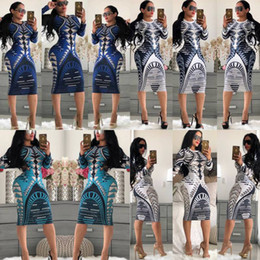 womens sexy club wear dresses NZ - 20 Styles Womens Sexy Dress Stretch Party Dresses Floral Print Skinny Club Wear Gorgeous Vestidos Bodycon Dresses 2020 for Wholesale New