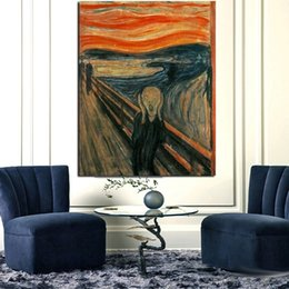 Discount famous modern abstract art paintings Art Reproductions Posters and Prints Edvard Munch Scream Famous Abstract Oil Painting Modern Wall Picture for Living Room Nordic Home Decor