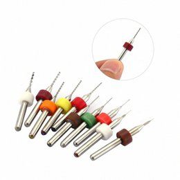 pcb drilling bits Canada - Engraving Drill 10pcs set Hard Alloy Small Drill Bit 0.1mm-1.0mm Circuit Board PCB Bit Imported Fixed-shank hlkg#