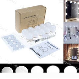 power kit bulb Canada - Hollywood Style LED Vanity Mirror Lights Kit with Dimmable Light Bulbs 10W USB Powered Lighting Fixture Strip for MakeupDressing Room EUB