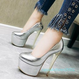 high heels big platform NZ - big small size 32 to 48 with box super platform ultra high heel dress shoes fashion luxury designer women shoes lilac silver gold red c02