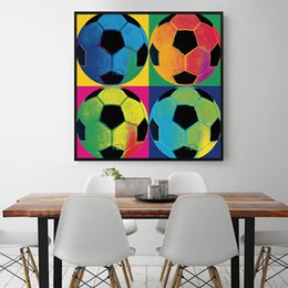 wall fans Australia - Canvas Painting Football Modern Nordic Style Wall Artwork Poster Prints Soccer Fan Picture For Hotel Living Room Home Decoration