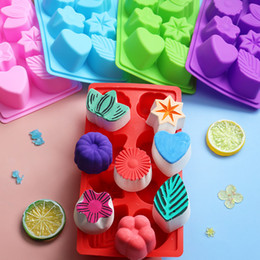 silicone leaf mould NZ - 1 PCS Hot Sale Silicone Ice Cube Chocolate Cake Cookie Cupcake Soap Molds Mould Tool Leaf Flower D652