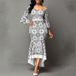 Wholesale laces for dresses resale online - Spring Autumn African Maxi Dresses For Women Fashion Robe Long Dress Lace Bazin Vestido Dashiki Party African Clothes