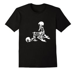 Discount shirt sex fashion Fashion Sex Love And Skeleton Halloween Skeleton Funny T-Shirt