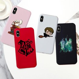 iphone case harry potter Canada - Cartoon Harries Potter Magic School Phone Case for Iphone 7 6 8 Plus Silcone Phone Cover for Iphone 11 X Xs Xr Xsmax Coque