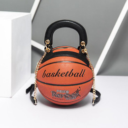 single round NZ - Designer Shoulder Handbags Trend Round Women's Bag Basketball Shape Personality Creative Single Shoulder Chain Diagonal Bag Women Purses