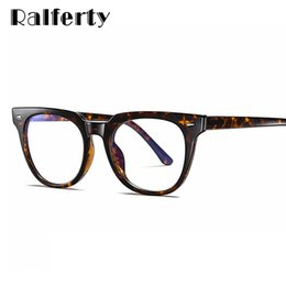 Discount oculos grau feminino Ralferty 2020 Square Blue Light Glasses Frames Women Trending Styles Brand Optical Computer Glasses Oculos De Grau Femin