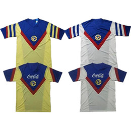 america jersey s UK - 1987 88 Retro AMERICA Soccer Jersey 86 87 88 89 Mexico Club America home away Classic ancient Football shirt