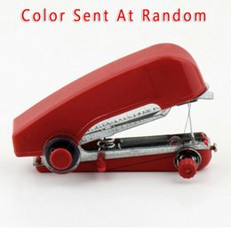 mini handheld portable sewing machine Australia - Portable Handheld Sewing Machine Mini Clothes Fabric Pocket Mending Tool 11 X 4.5 X 7cm Sewing Machine Quickly Mend Fabric