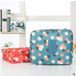 wholesale sundries products Canada - Women's Travel Organization Beauty cosmetic Make up Storage Cute Lady Wash Bags Handbag Pouch Accessories Supplies item Products