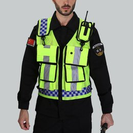 high gear cycle UK - Reflective Vest with Pockets High Visibility Breathable Adjustable Safety Gear for Cycling Running