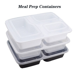 1000ml Freshware Meal Prep Containers Food Storage Containers Bento Box BPA Free Plastic Containers 3 Compartment with Lids on Sale
