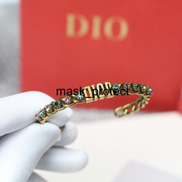 antique sterling bangle UK - Free PM2.5filter type washable reusable mask of the new di home color diamond antique gold bracelet brass opening adjustable bracelet