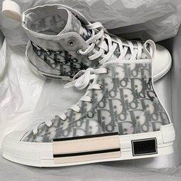 Großhandel 2020 neue Blumen Technische Canvas B23 High Top Luxus-Turnschuhe Vintage-Plattform in Oblique Mens B24 Womens Fashion Boots-Designer-Schuhe