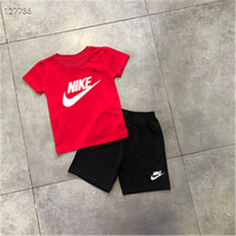 boy and girls t-shirt summer clothes boys clothing set tracksuit 2020 short sleeve suit two piece children outfits T87891