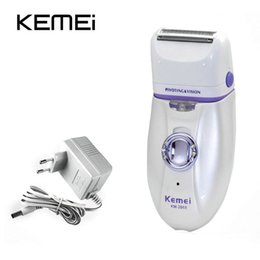 women body shaver UK - 2016 Km 2668 New 2 In 1 Women Shave Wool Device Electric Rechargeable Lady Shaver Epilator Shaving Waterproof Dual Head Hair Removal JSozr