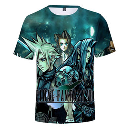 fantasía final vii al por mayor-Final Fantasy D Camiseta Final Fantasy VII cosplay camiseta Mujeres Hombres Niños Casual Streetwear Harajuku Hip Hop animado Tee Shirts