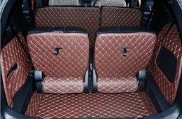 car boot liners UK - Customized full covered car trunk mats for Explorer 7seats durable boot carpets cargo liner for Explorer wOVw#