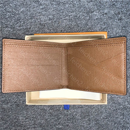 shorts men styles NZ - Classic Mens Wallet Fashion Check Plaid Style Men Small Wallets Special Canvas Multiple Short Bifold Wallet And Dust Bag With Box A7