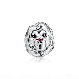 lion charms for bracelets UK - 2019 Original 925 Sterling Silver Jewelry the charm King Lion Simba Beads Fits Pandora Bracelets Necklace for Women Making