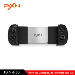 ios controllers UK - NEWEST PXN PXN-P30 Wireless Gamepad Bluetooth Game Controller Joystick Phone Holder for Android iOS T191227
