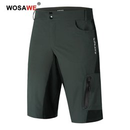 race bmx bikes UK - WOSAWE Men Off-road Riding Motorcycle Shorts BMX Mountain Bike Racing Downhill Cycling Shorts Dirt Bike Riding