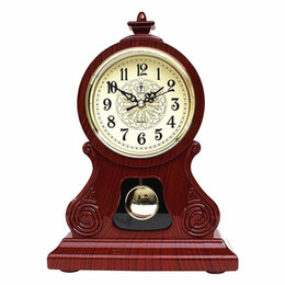 antique table desk Canada - Table Clock Vintage Clock Classical Royalty Sitting Room TV Cabinet Desk Imperial Furnishing Creative Sit Pendulum Clock