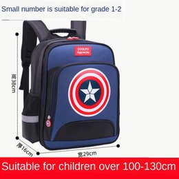 backpacks for boys Canada - New primary school schoolbag boys' for grade 1-3-6 burden reduction and spine protection children's printing Bag backpack backpack