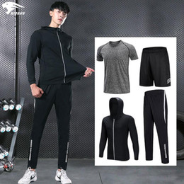 football compression suit NZ - YINGHU Men's Sports Compression Running Set suits Tights Fitness Training Suits Fitness Clothing football suit play gym sets new