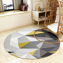 european chairs UK - Modern Minimalist Round Carpet Computer Desk Chair Cushion Balcony Hanging Basket Swivel Nordic Living Room Coffee Table Mat mWor#