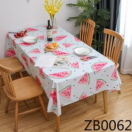 print tablecloths wholesale UK - Polyester printed waterproof oil-proof dining Nordic style hotel restaurant Napkin tablecloth household tablecloth