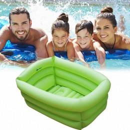 Toptan satış Şişme Yüzme Havuzu Taşınabilir Açık Çocuk Yıkanma Havuz Dikdörtgen Garden Party Kapalı Şişme Yıkanma Küvet XPGt #