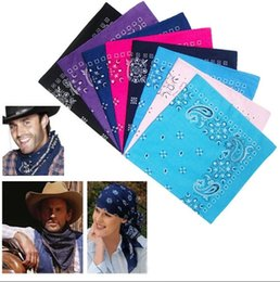 mufflers for men Canada - 2017 Spring Promotion for Boyfriend 100% cotton Paisley Cowboy Bandanas Hip hop Handkerchief Double sided Printed Square Multicolors Muffler