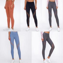top quality sports women yoga pants designer womens workout gym wear lu 23 32 elastic fitness yogaworld tights leggings Transparent gauf583#