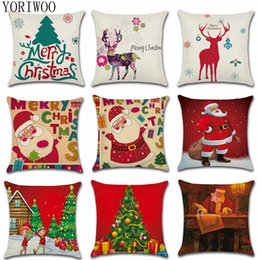 christmas pillows Australia - YORIWOO Santa Claus Deer Pillow Case Merry Christmas Decorations For Home 2019 Sofa Decorative Cushions Xmas Gift Christmas Tree Yz8u#