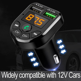 FM Transmitter Bluetooth Car MP3 Audio Player Handsfree Car Kit 5V 3.1A Dual USB Charger 12-24V TF U Disk Music Player on Sale